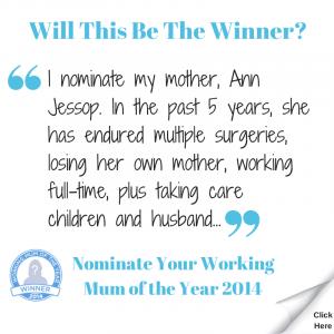 Working Mum of the Year 2014 Winner